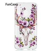 Casi di fiori Per Samsung J3 2018 Molle Della Copertura di TPU sFor Samsung Galaxy A40 A50 A6 2018 Più A7 A750 A70 a8S A9 J2 Core J4 J6 J7 J8s