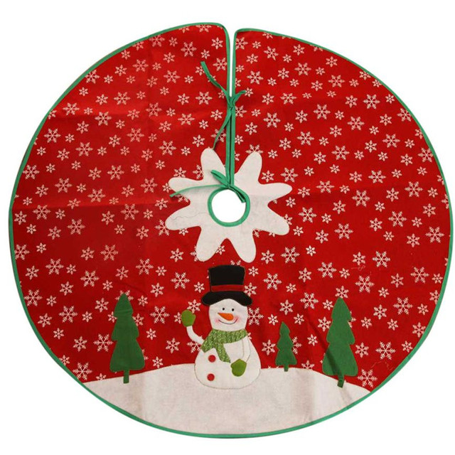 Online Shop 85CM Red Christmas Tree Skirt Xmas holiday floor decor ...