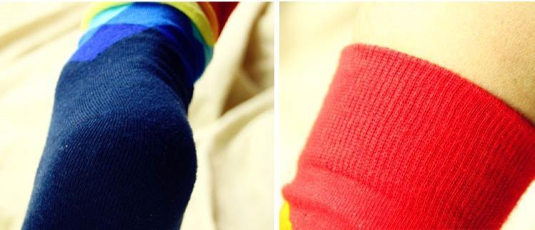 Cool Gadgets Happy Brand ideasox Socks Gradient Color Paragraph winter British style lattice Pure Cotton Stockings Men's Knee High Socks 1