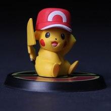 New Hot Pokémon Pokemon Cute Pikachu Garage Kit 6 Mini Pokemon Combination Doll Model Car Decoration Gift