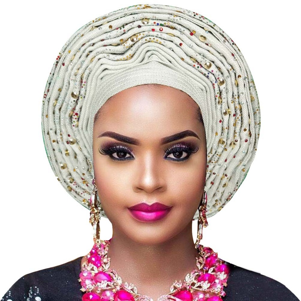 Aso oke gele african headtie nigerian headtie auto gele women headwrap lady wedding turban (15)
