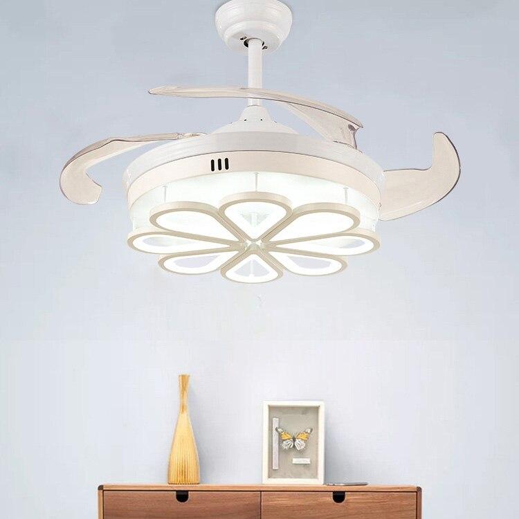 42 ''Luce Ventilatore a soffitto Integrazione del LED A tre Colori di Luce con Telecomando di Controllo di Regolazione Della Velocità ABS Invisibile Lama