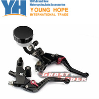 Front CNC 1 Pair Of Black Universal Motor Part 7 8 22mm Brake Clutch Master Cylinder