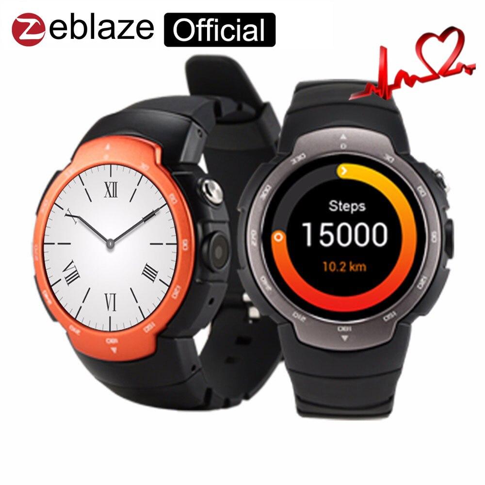 imágenes para Zeblaze blitz smart watch teléfono android 5.1 apoyo mtk6580 512 + 4g tarjeta sim wifi gps bluetooth smartwatch para ios y android teléfono