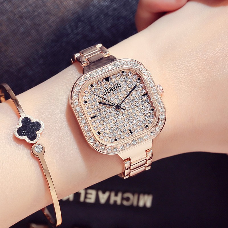 Watches Women Fashion Quartz Diamonds Wrist Watch Stainless Steel Top Luxury Brand Ladies Dress Clock Female Relogios Feminino weiqin luxury gold wrist watch for women rhinestone crystal fashion ladies analog quartz watch reloj mujer clock female relogios