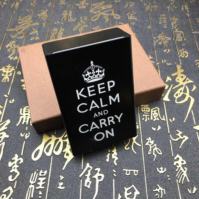 אישיות דפוס מודפס סיגריות מקרה אלומיניום סגסוגת מתכת אחסון תיבה מחזיק מיכל ספק עבור 20 סיגריות