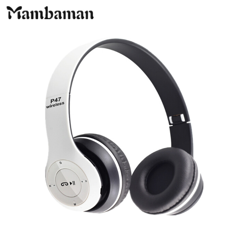 P47 Bluetooth Headphone Wireless Headset Hand Free For iPhone 7 Samsung Xiaomi Bluetooth Earphone With MF/TF Card bass Earpod original r6000 wireless headphone bluetooth headset for samsung xiaomi iphone 7 car charger 2 in 1 bluetooth earphone
