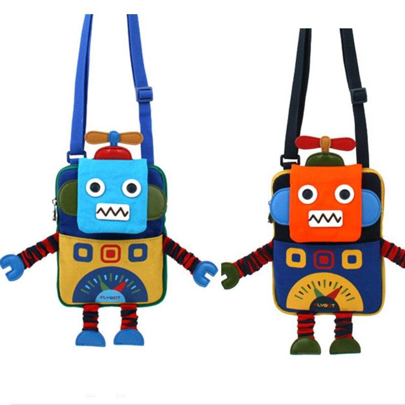 Милый мультфильм Дизайн портфель для детей закуски карта маленький детский сад мешок дошкольного робот формы Сумки на плечо детские игрушк...
