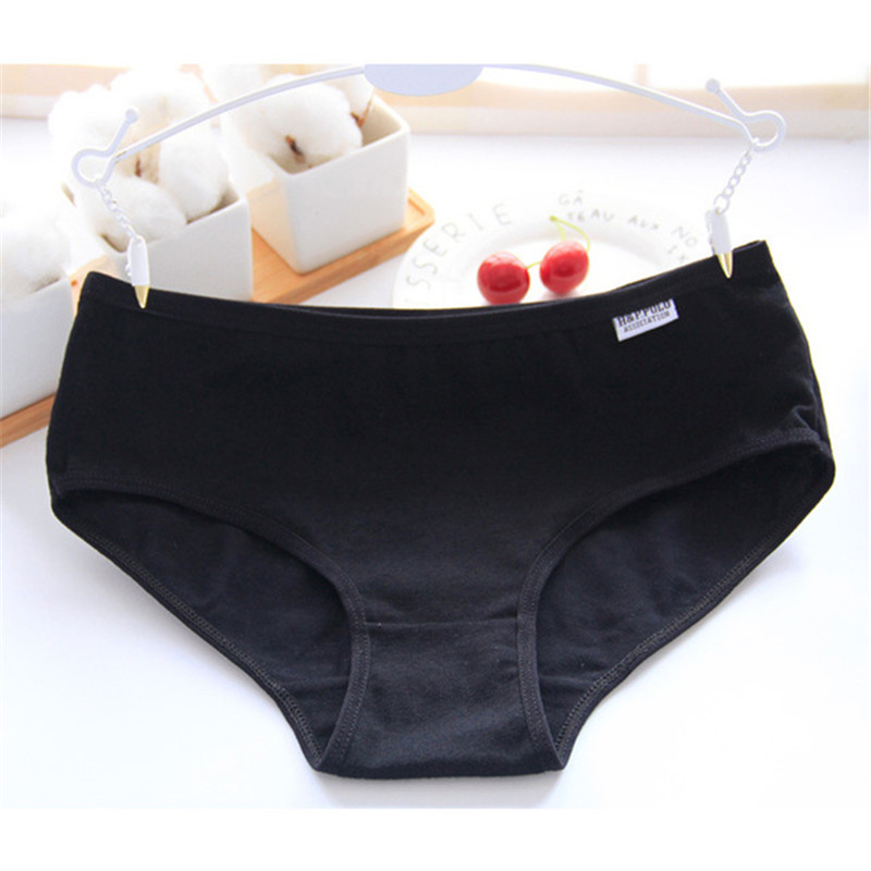 Plus szie 36cm Ladies   Panties   Cotton Solid Color Women Underwear Comfortable Briefs Breathable   Panties   Female Intimates