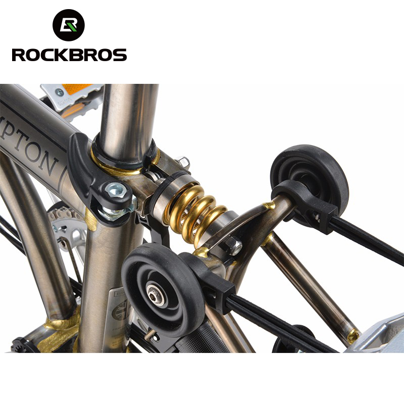 ROCKBROS Bike Shocks Titanium Brompton Bicycle Rear Coil Spring Suspension Outdoor Sports MTB Mountain Road Cycling Parts