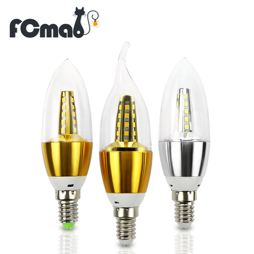 цены  E14 Lampada Candle Lamp LED Light Candle Bulb LED SMD2835 Warm White Cold White Energy Saving AC220V LED Candle Llights