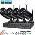 4CH 1080 P HD inalámbrica NVR Kit P2P 1080 P de interior al aire libre de la visión nocturna IR seguridad 2.0MP Cámara cámara IP WIFI sistema de CCTV