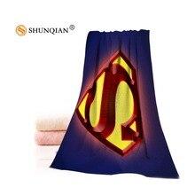 Пользовательские Супермен Человек логотип полотенце s микрофибра ткань популярное полотенце для лица/банное полотенце Размер 35 x75cm, 70x140 cm напечатать вашу картинку