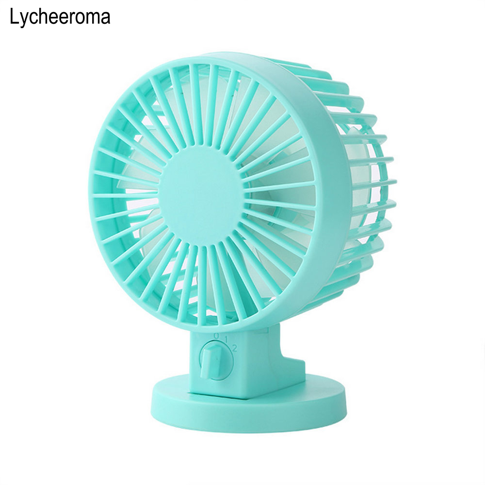 Ultra-quiet Mini USB Desk Fan Office Big Wind Mini Fan Silent Desktop Fan With Double Side Fan Blades Creative Home
