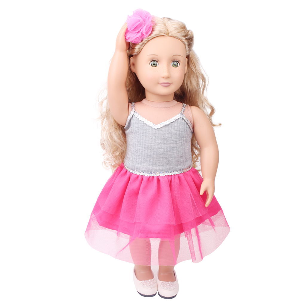 Cute Hairpin Hair Grip Dolls DIY Making Party Accessory for 18inch American Girl Doll Pink ...