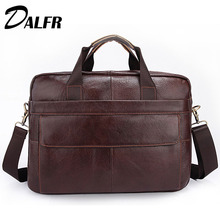 DALFR Leather Bag Messeng Casual Shoulder Leather Messenger Bags 18 Inch Cowhide Leather Bag Designer Leather