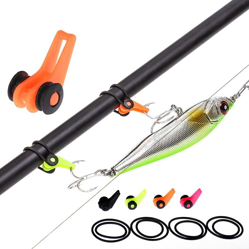 10pcs/Set Plastic Fishing Hook Keeper Fishing Rod Pole Lures Bait Tackle Safety Holder Fishing Lures Bait Safety Holder Tackle