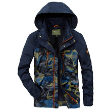 Camouflage Coat Mens Hoodies Casual Jacket Brand AFS JEEP  Clothing Coats Male 2018 Spring Autumn Hot Selling
