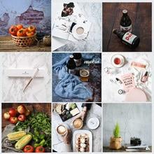 Двухсторонний фон для студийной фотосъемки с мраморной текстурой из древесного цемента разных стилей, реквизит для еды, косметический мини товар