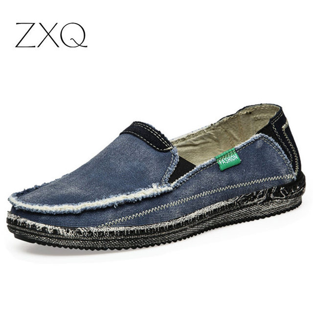 82eedc7c89351 New arrival Low price Mens Breathable High Quality Casual Shoes Jeans  Canvas Casual Shoes Slip On men Fashion Flats Loafer-in Men's Casual Shoes  from ...