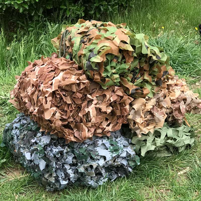 6x8 Meter Large Size Desert Digital Jungle Military Camouflage Net Sunshade Cloth Hunting Camo Blinds Net Cover Background-in Sun Shelter from Sports & Entertainment    1