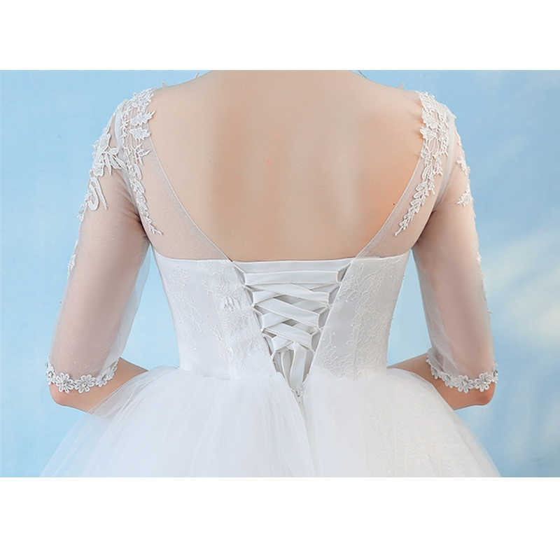 488e069212 Elegant Comfortable White Lace Maternity Wedding Dress Half Sleeve Lace Up  Long Ball Gown Cheap Plus size for Pregnant Bride