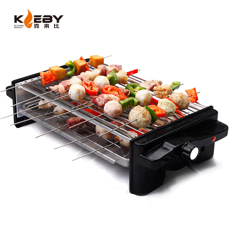 KLB9055 Electric Grill Double Layer Flat Pan Baking Oven Household Smoke-free Grilled and Roasted Machine Enjoyment ApplianceKLB9055 Electric Grill Double Layer Flat Pan Baking Oven Household Smoke-free Grilled and Roasted Machine Enjoyment Appliance