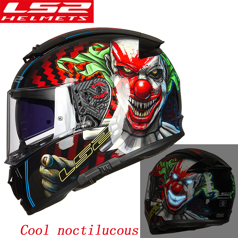 LS2 FF390 original full face Motocycle helmet KPA Breaker Chrome-plated helmet Pinlock Anti-fog System helmet ECE approval ls2 helmet