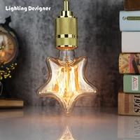 Звезда Форма Эдисон лампочка Винтаж Стиль лампа накаливания короткозамкнутый нити 40 Вт 220/240 В E27 свет лампы