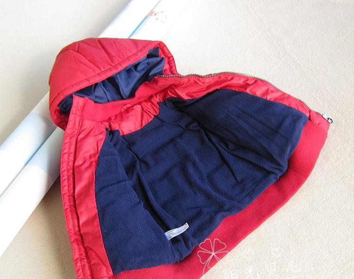 Балалар 12M- 4T қызыл сыртқы пальто. - Балалар киімі - фото 2