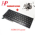 "Genuine US Keyboard With Backlit Backlight Keyboard Screws For MacBook Pro 15"" A1286 2011 2012 c/w 2009 2010"