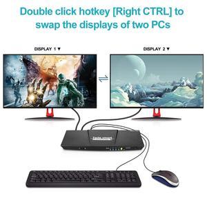 Image 4 - 2 Port Ausgang HDMI + VGA HDMI Dual Monitor Kvm switch HDMI KVM Unterstützung USB 2,0 Ports Tastatur und maus bis zu 4K @ 30Hz HDMI KVM