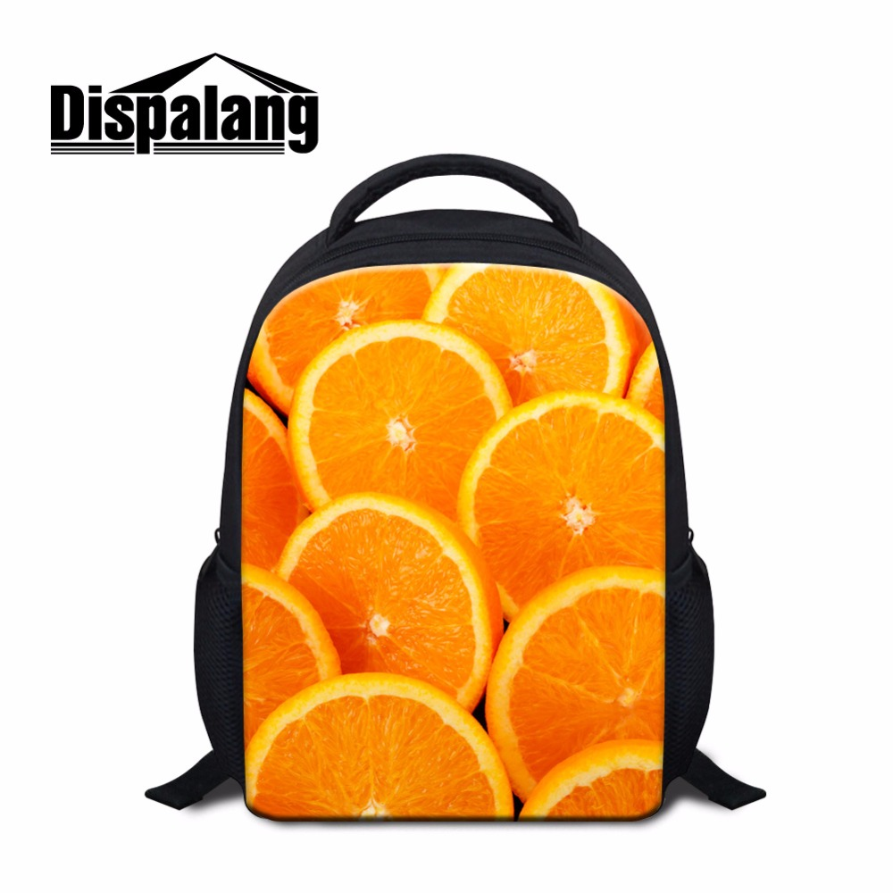 Little Backpacks for Kids Fruit 3D printed School Bookbags for Children Kindergarten Small Back Pack Cute Rucksack for Girls