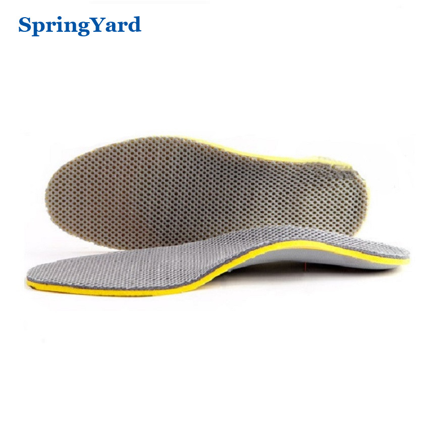 SpringYard Foam+TPR Arch Support Breathable Shock Absorption Cushion Sport Orthopedic Insoles for Shoes Woman Men