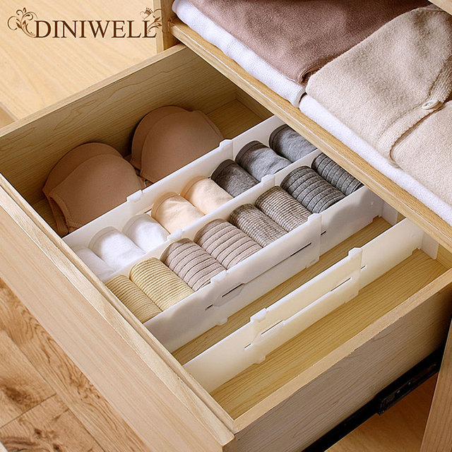 Diniwell Retractable Adjustable Stretch Plastic Drawer