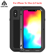hot deal buy love mei metal case for iphone xs max cover iphone xs max funda aluminum armor shockproof waterproof case for iphone xs max capa