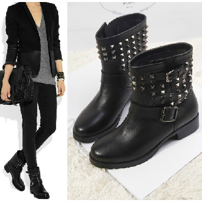 ankle motorcycle boots