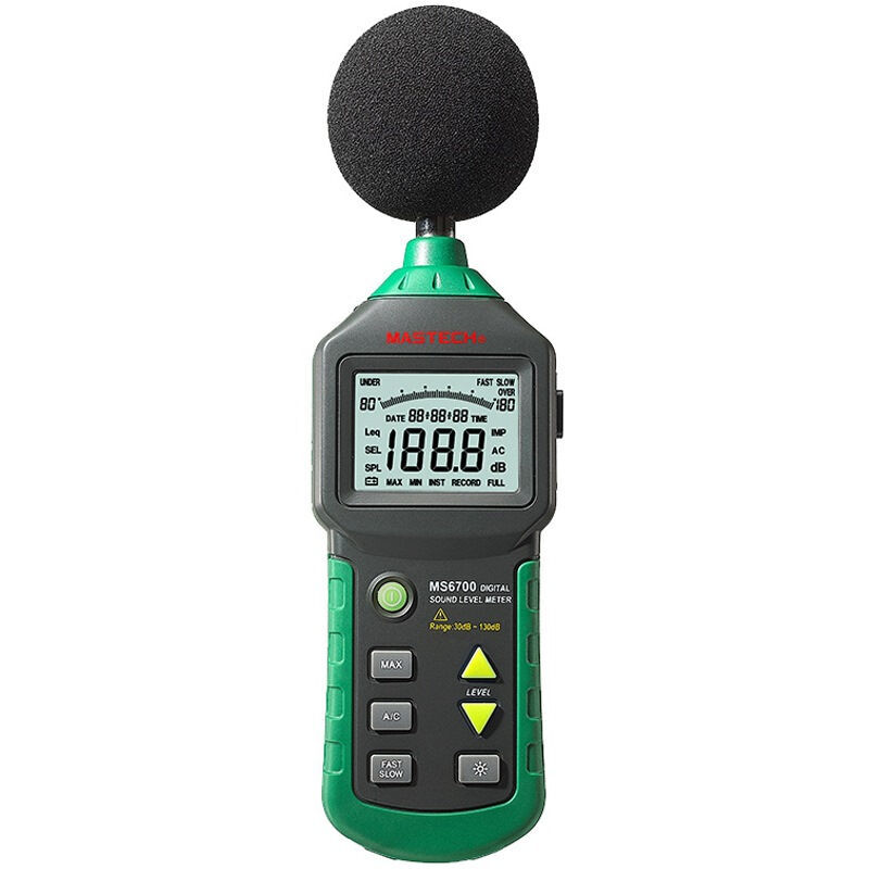 MASTECH MS6700 Auto Range Digital Sound Level Meter Tester 30 db to 130dB Decibel meter mastech ms6701 autoranging digital sound level meter decibel tester 30db to 130db with rs232 interface and software with the box