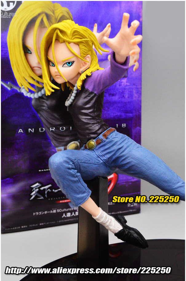 """""""Dragon ball"""" original banpresto esculpir grande zoukei tenkaichi budoukai 6 vol.3 coleção completa figura-android n° 18"""