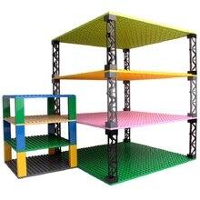 Çift taraflı taban plakaları plastik küçük tuğla taban plakası uyumlu klasik boyutları yapı taşları inşaat oyuncakları 32*32