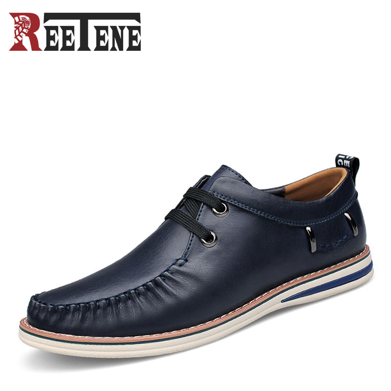 Spring Autumn New Men Casual Leather Shoes Breathable Lace Up Men's Casual Shoes Comfortable Soft Zapatos Hombre Plus Size 46 47 0258017025 oxygen sensor lambda sensor 5 wire 17025 lsu 4 9
