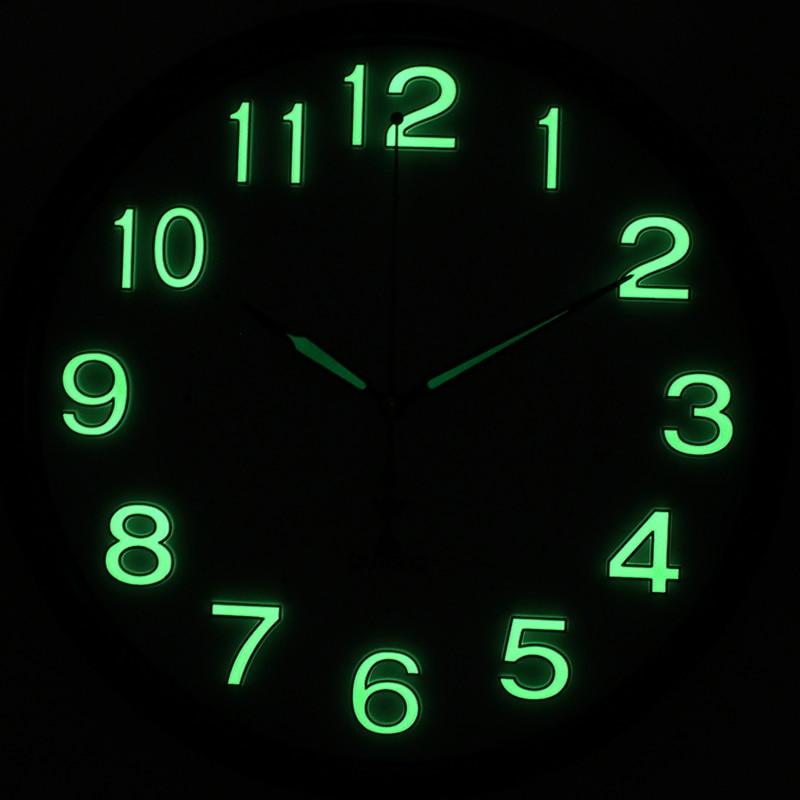 Diy Reloj De Pared De Cuarzo Brillan En La Oscuridad