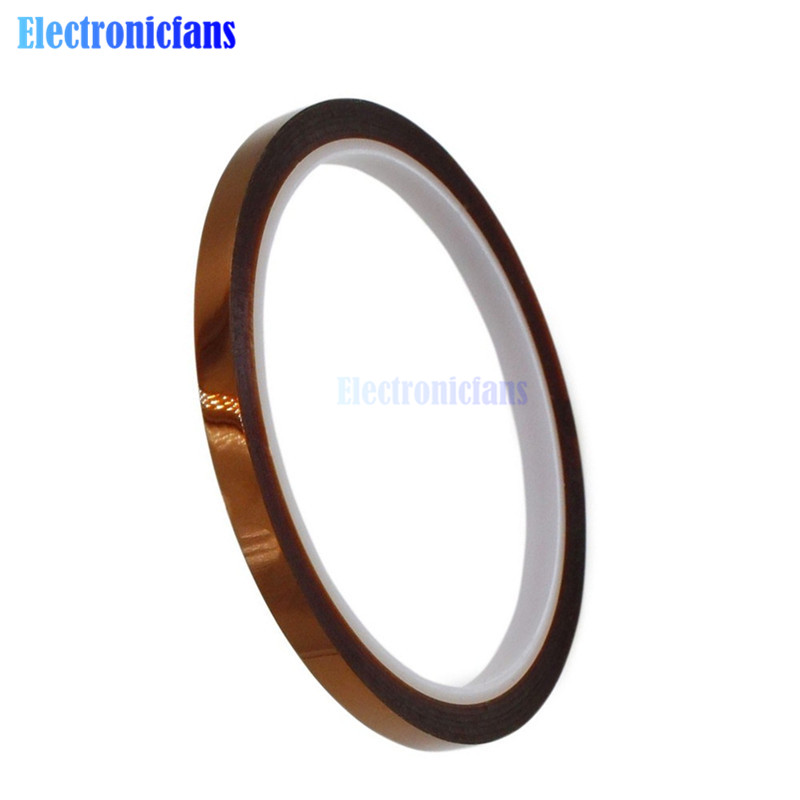 5pcs/lot New 6mm X 33m 100ft Tape BGA High Temperature Heat Resistant Polyimide Tape 260-300 Degree For Electronic Industry