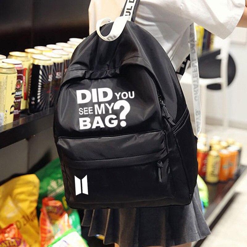 Neue Kpop BTS BT21 Bangtan Jungen Gruppe Der Gleiche Leinwand Student Tasche Mode Rucksack 3 Farben Haben Sie Sehen Mein tasche