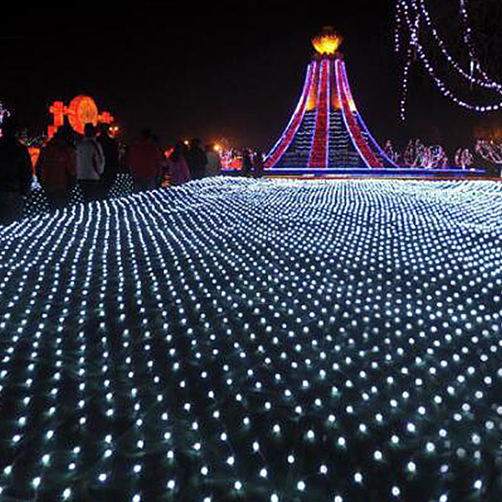 6*4m Mesh Net Waterproof String Light LED Holiday 3*2m 204LED Fairy Light Garland For Outdoor Christmas Party Wedding Decoration