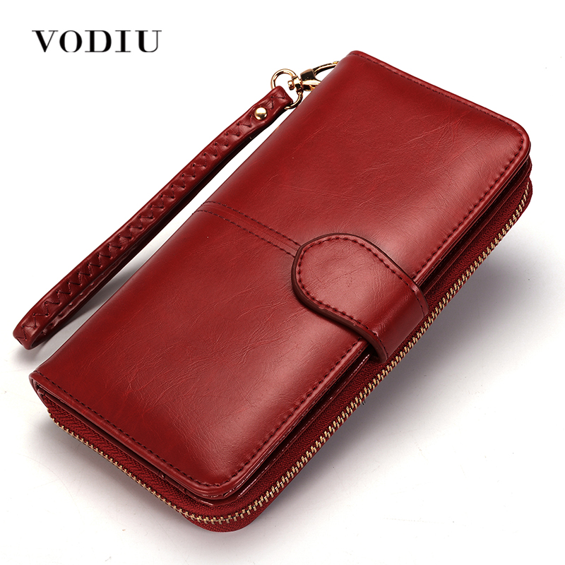 Women Wallet Female Purse Women Leather Wallet Long Trifold Coin Purse Card Holder Money Clutch Wristlet Multifunction Zipper simple organizer wallet women long design thin purse female coin keeper card holder phone pocket money bag bolsas portefeuille