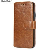 TobeThird Oil Wax PU Leather Detachable 2 In 1 Wallet Folio Phone Cover Case For IPhone