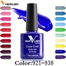 Venalisa 60 Цвет Nail Art красоты DIY ногтей Краска Дизайн гель uv led 7.5 мл дизайн ногтей Эмаль Гель для маникюра УФ-лак гель