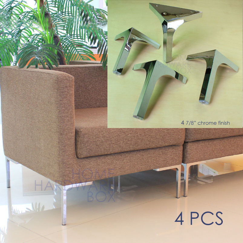 Sofa Legs Metal Feet Chrome Finish Pack Of 4 Corner Leg Stand 12cm Height In Casters From Home Improvement On Aliexpress Alibaba Group