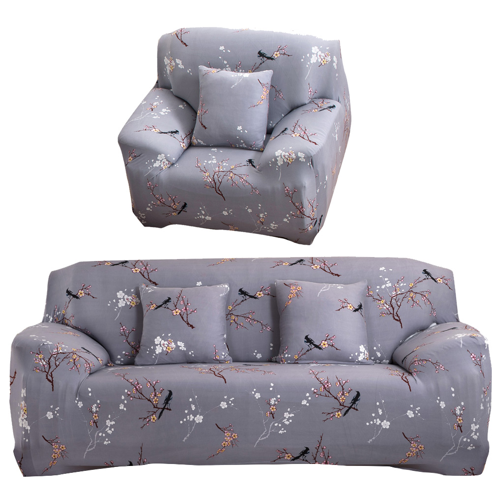 Flower Printed Cloth Art Sofa Cover Spandex Stretch Slipcover Sofa Furniture Cover Home/office/hotel Dustproof Sofa Covers ...
